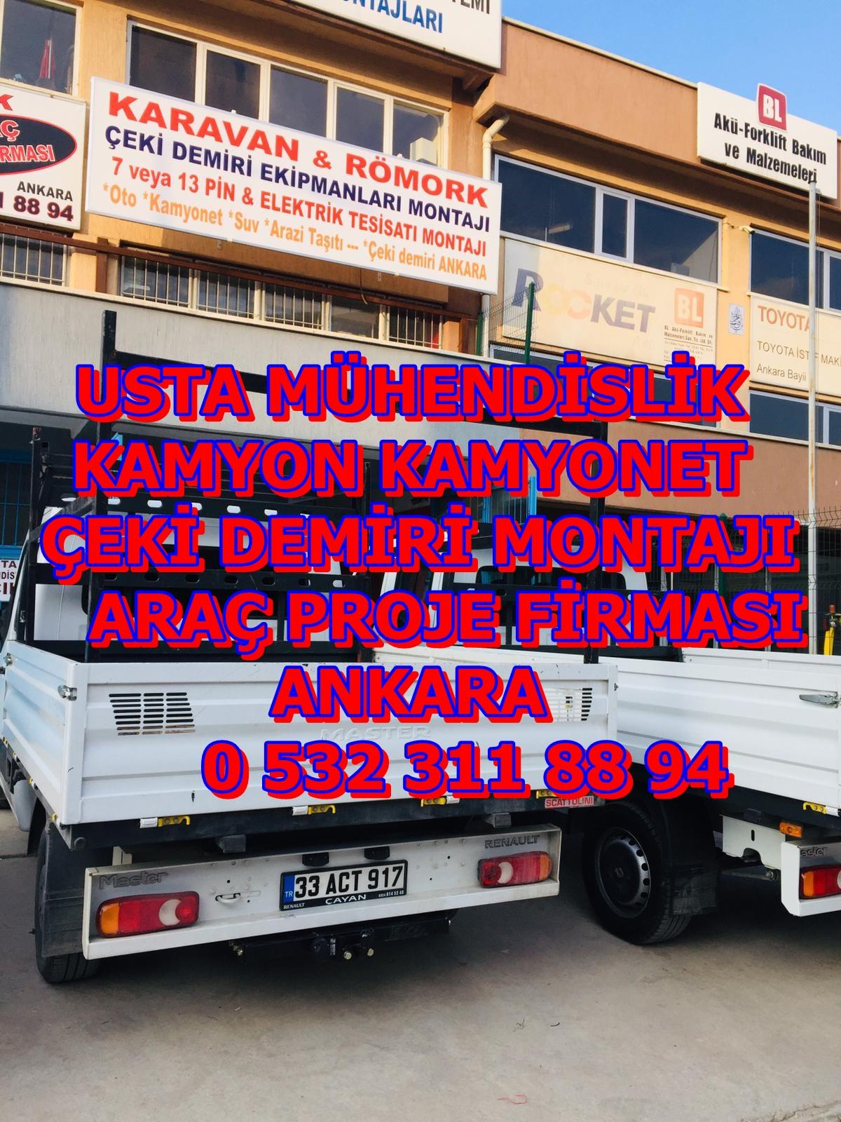 MASTER KAMYONET ÇEKİ DEMİRİ ANKARA USTA MÜHENDİSLİK 05323118894